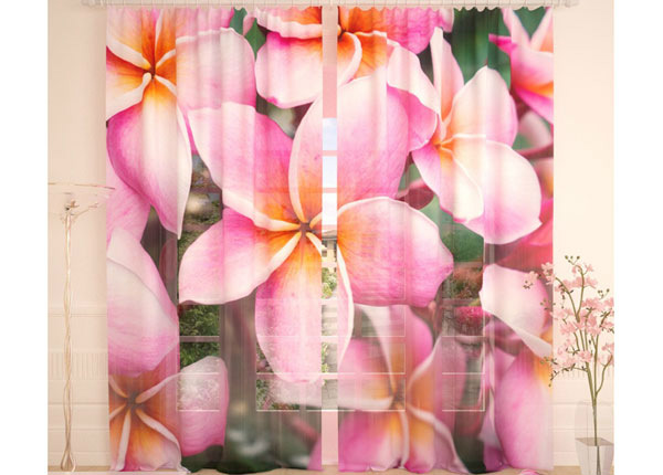 Tüllkardinad Tropical Flowers 290x260 cm AÄ-134291