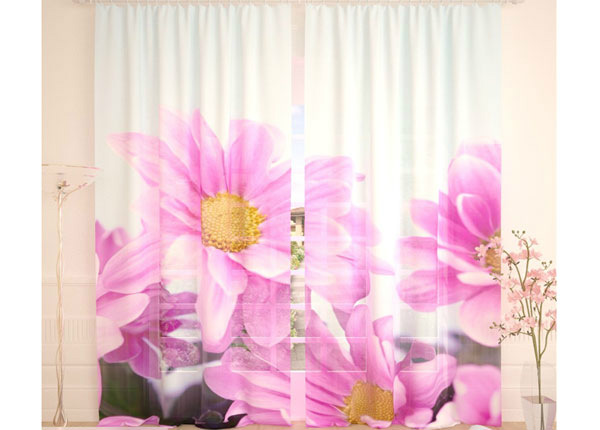 Tüllkardinad Purple Flowers 290x260 cm AÄ-134292