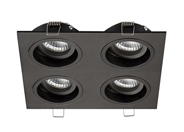 Встраиваемый потолочный светильник Chuck Black DL4 A5-134562