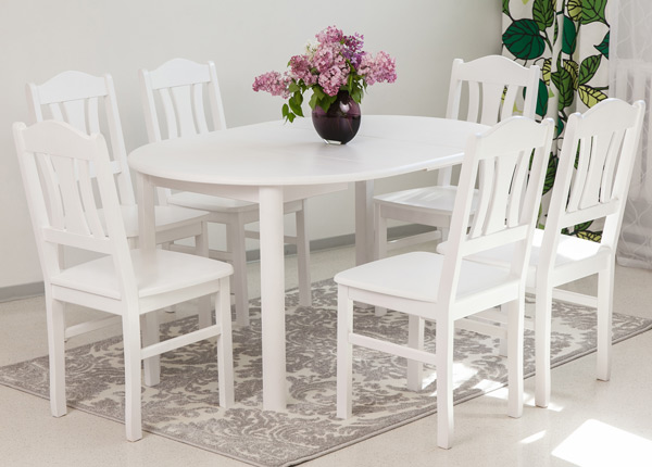 Söögitoakomplekt Ada2 100x100-178 cm + toolid Per 6tk