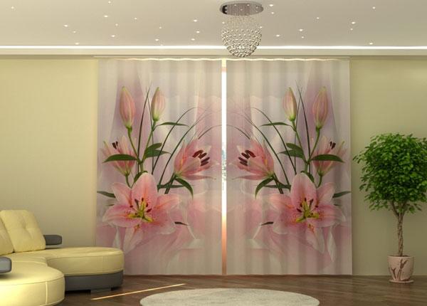 Полузатемняющая штора Lilies ED-135545