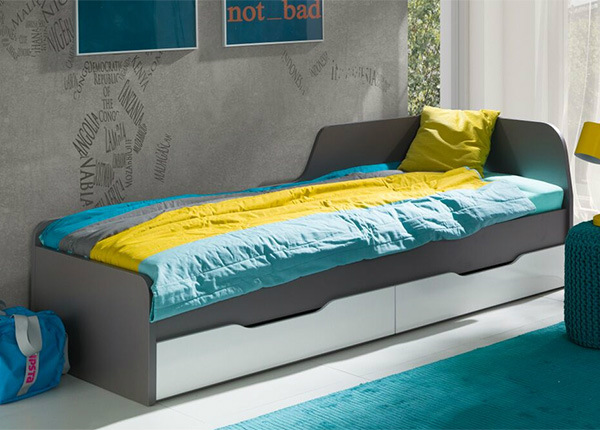 Sahtlitega voodi 80x200 cm