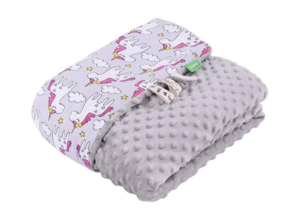 Детское одеяло Lulando Minky 100x140 см, серое GB-135929