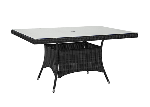 Puutarhapöytä WICKER 150x100 cm