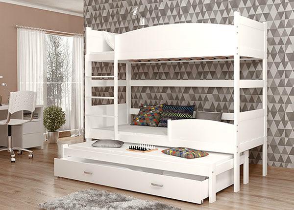 3-местная двухъярусная кровать 80x184 cm