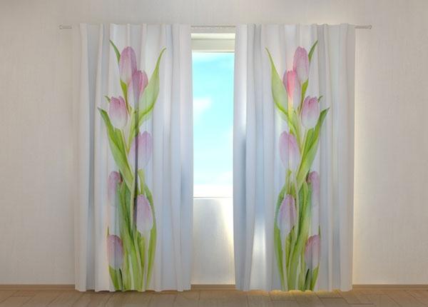 Полузатемняющая штора Amazing Pink Tulips ED-137837