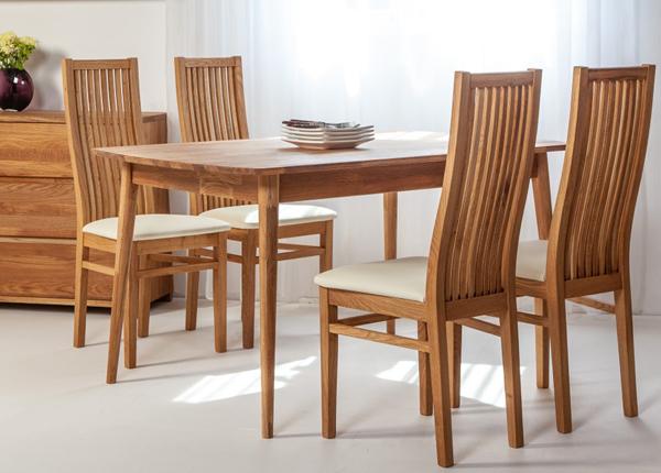 Tammi ruokapöytä SCAN 140x90 cm + 4 tuolia SANDRA EC-138002