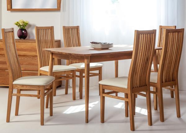 Tammi ruokapöytä SCAN 140x90 cm+ 6 tuolia SANDRA EC-138004