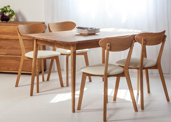 Tammi jatkettava ruokapöytä SCAN 140x90 cm+ 4 tuolia IRMA EC-138005