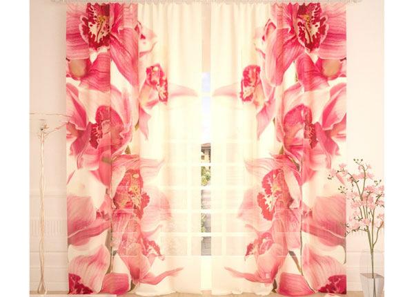 Tüllkardinad Vintage Orchids 290x260 cm AÄ-138222