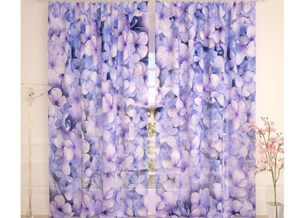 Tüllkardinad Blue Hydrangea 290x260 cm AÄ-138224