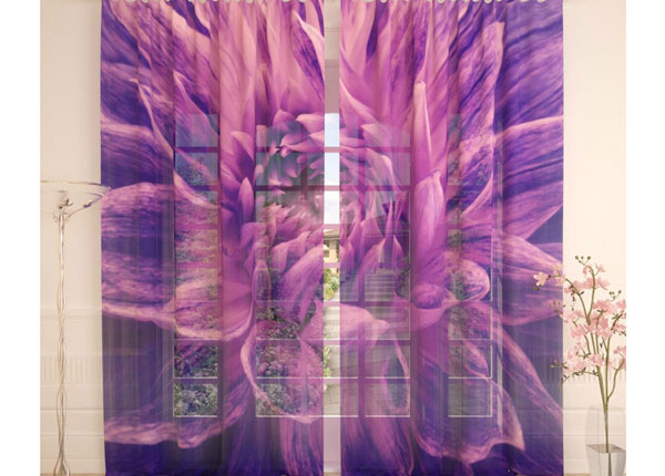 Tylliverhot PURPLE FLOWER 290x260 cm AÄ-138239