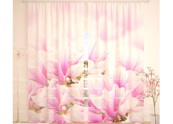 Tüllkardinad Fresh Pink Flowers 290x260 cm AÄ-138250