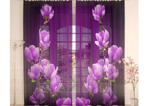 Tüllkardinad Purple Magnolia 290x260 cm AÄ-138258