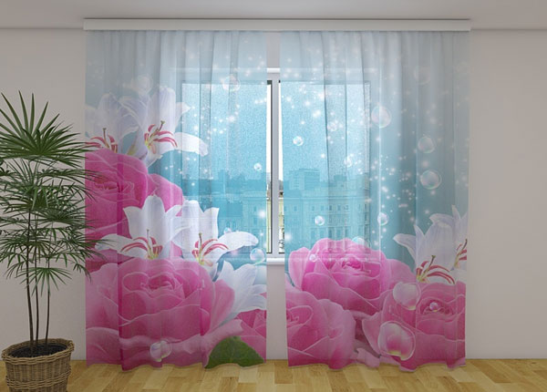 Полузатемняющая штора Fluffy Roses 240x220 cm ED-138503
