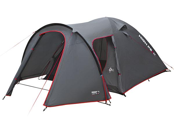 Teltta HIGH PEAK KIRA 5 tummanharmaa/punaine
