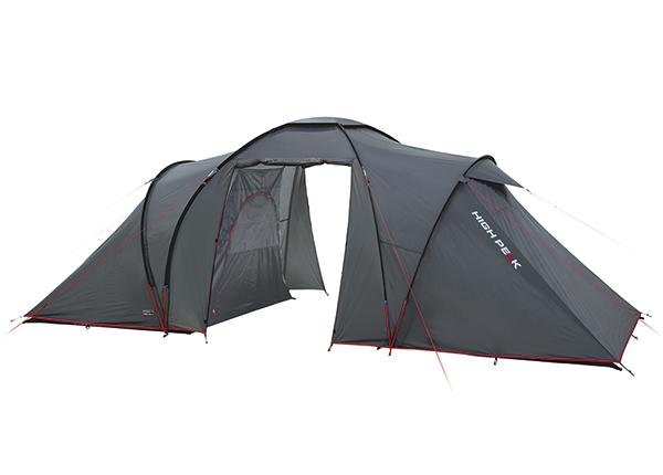 Teltta HIGH PEAK COMO 4 tummanharmaa/punainen HU-138735
