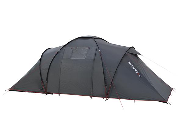 Teltta HIGH PEAK COMO 6 tummanharmaa/punainen HU-138736