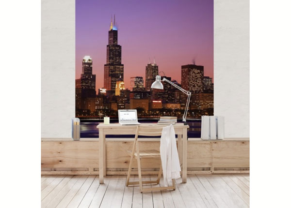 Fleece-kuvatapetti CHICAGO SKYLINE