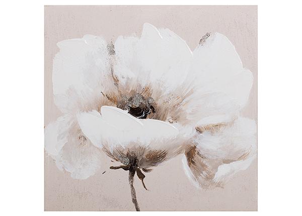 Масляная картина Бежевый цветок 30x30 см
