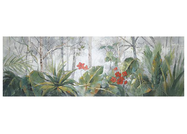 Масляная картина Деревья / пальмовые листья 50x150 см