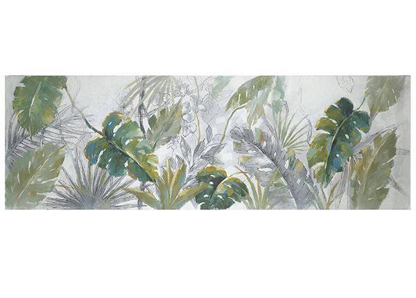 Масляная картина Пальмовый лист 50x150 см
