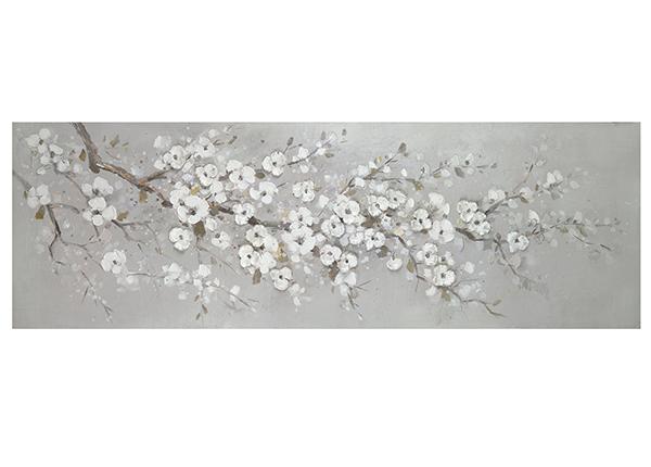 Õlimaal Valged kirsiõied 50x150 cm