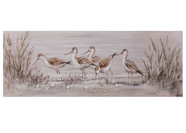 Масляная картина Птицы 50x150 см