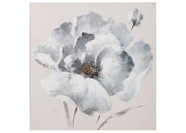 """Масляная картина """"Белый цветок"""" 60x60 cm"""