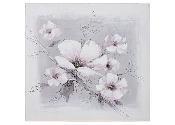 """Масляная картина """"Белые цветы"""" 60x60 cm"""