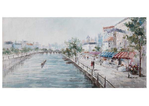Масляная картина Кафе на берегу речки 70x140 cm