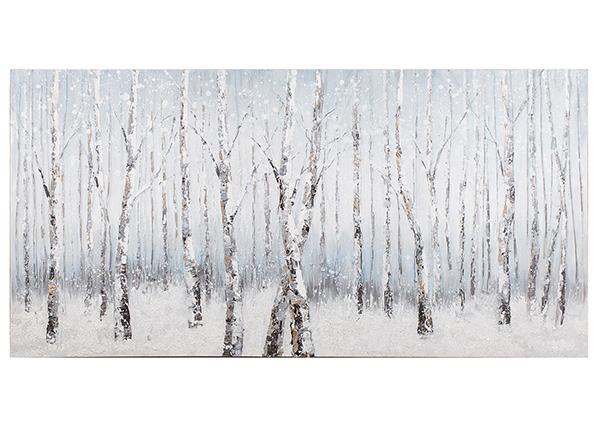 Масляная картина Березовый лес 70x140 cm