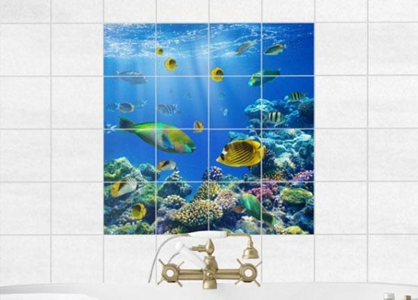 Kleebised seinaplaatidele Underwater Lights 120x120cm