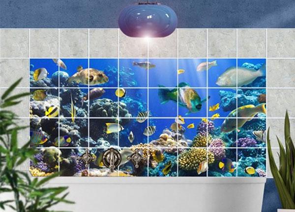 Kleebised seinaplaatidele Underwater Reef 60x120 cm