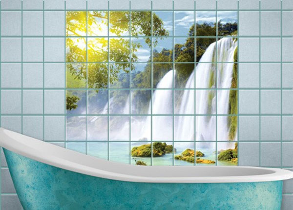 Наклейки на плитку Amazon Waters 120x120 cm