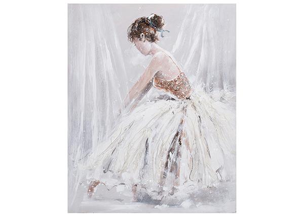 Õlimaal Naine valges kleidis 80x100 cm