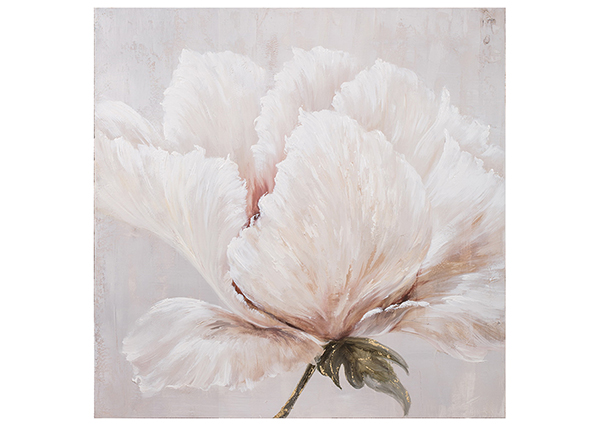 Масляная картина Белый цветок 100x100 cm