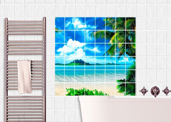 Наклейки на плитку Dream vacation 120x120 cm