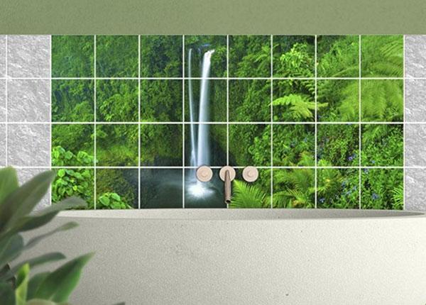 Kleebised seinaplaatidele Waterfall Paradiesischer 60x120 cm