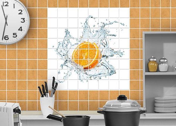 Kleebised seinaplaatidele Fresh Orange 120x120 cm