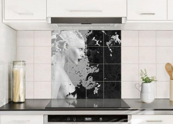 Наклейки на плитку Milk & Coffee II, 120x120 cm