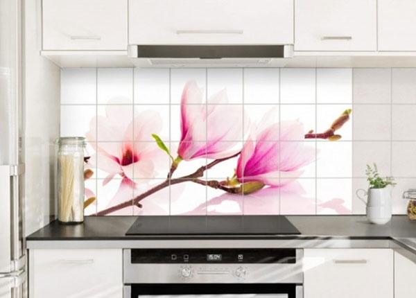 Наклейки на плитку Delicate magnolia branch 60x120 cm