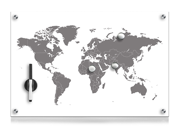 Lasinen muistitaulu WORLDMAP
