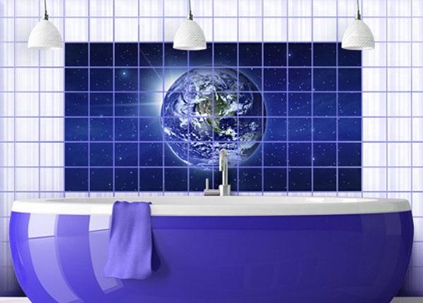 Kleebised seinaplaatidele Earth in space 60x120 cm