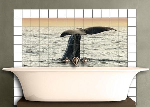 Наклейки на плитку Diving Whale 60x120 cm
