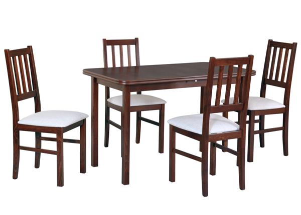 Jatkettava ruokapöytä ja 4 tuolia