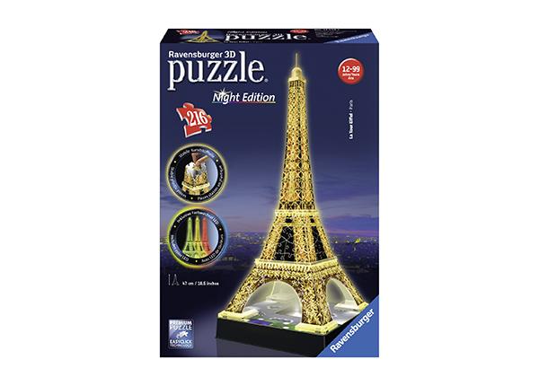 3D pimedas helendav pusle Eiffeli torn 216 tk