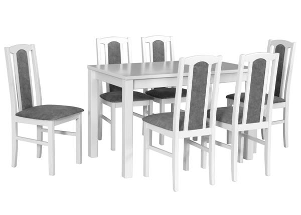 Pikendatav söögilaud + 6 tooli