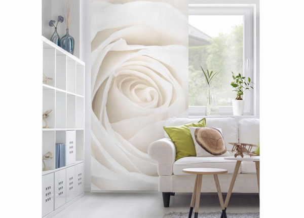 Paneelkardin Pretty White Rose 250x120 cm