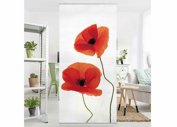 Paneelkardin Charming Poppies 250x120 cm